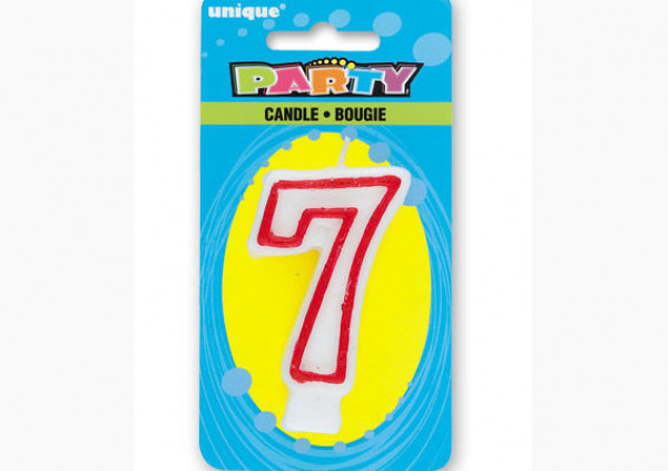 Number Candle '7'