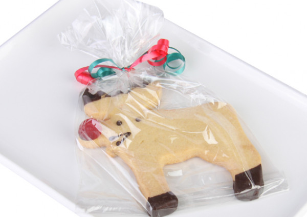 Christmas Reindeer Shortbread - Wrapped