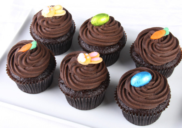 Easter Cupcakes - 7cm - Gluten Free chocolate