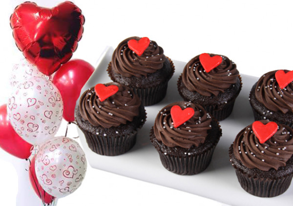 Valentine's Cupcakes - Package Deal - chocolate