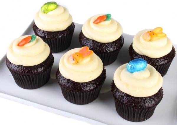 Easter Cupcakes - 7cm - Red Velvet