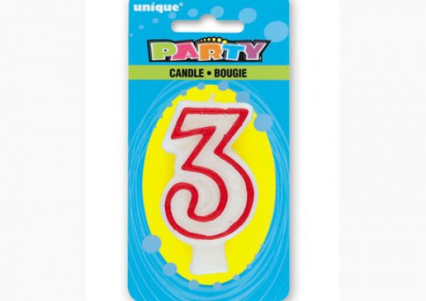 Number Candle '3'