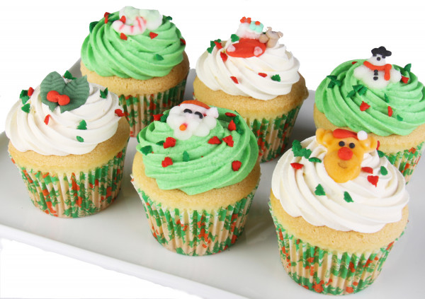 Christmas - Vegan Cupcakes - 7cm (Updated Photo Coming)