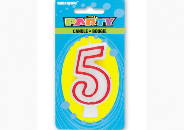 Number Candle '5'