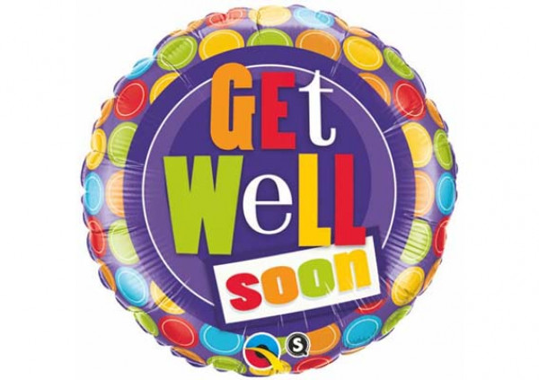 Get Well Foil Balloon - Cakes 2 U