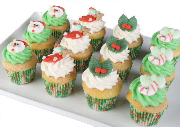 Christmas - Gluten Free Cupcakes - 4cm (Updated photo coming)