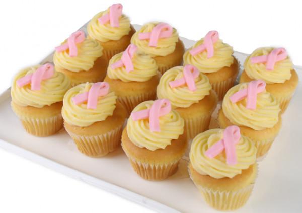 PINK RIBBON DAY Vanilla Cupcakes - 4cm