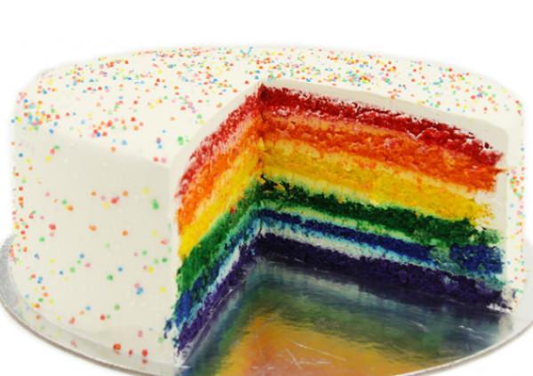 Rainbow Layer Cake - Cakes 2 U