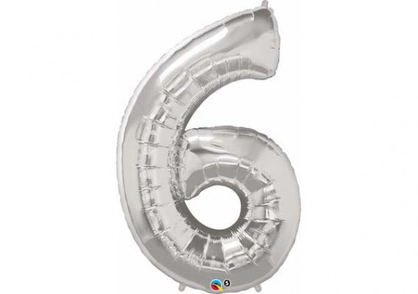 Foil Number Balloon '6' - Cakes 2 U