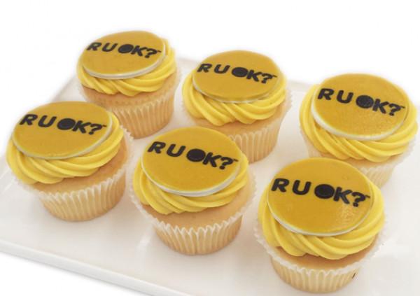RUOK Cupcakes - 7cm fondant disc