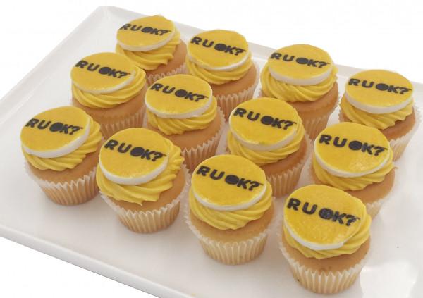 RUOK Cupcakes - 4cm fondant disc