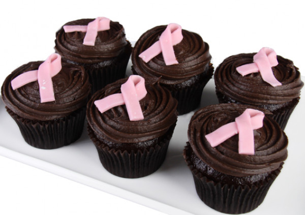 PINK RIBBON DAY Chocolate Cupcakes - 7cm