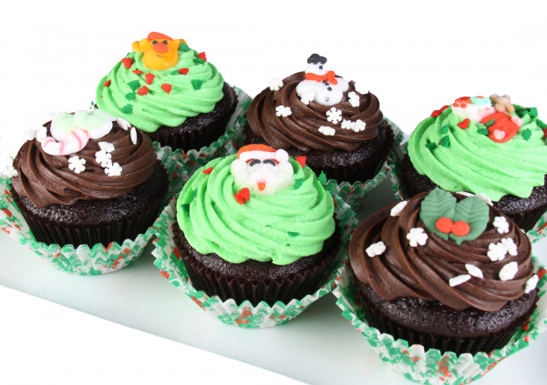 Christmas - Assorted Cupcakes - 7cm (Updated Photo Coming)