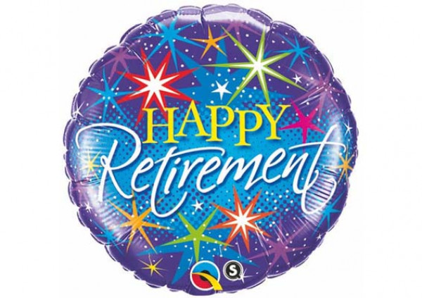 Happy Retirement Foil Balloon - Cakes 2 U