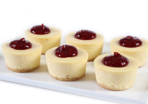 Raspberry Baby Baked Cheesecakes